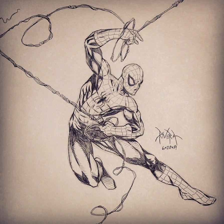 Spiderman Sketch by DavidRivera