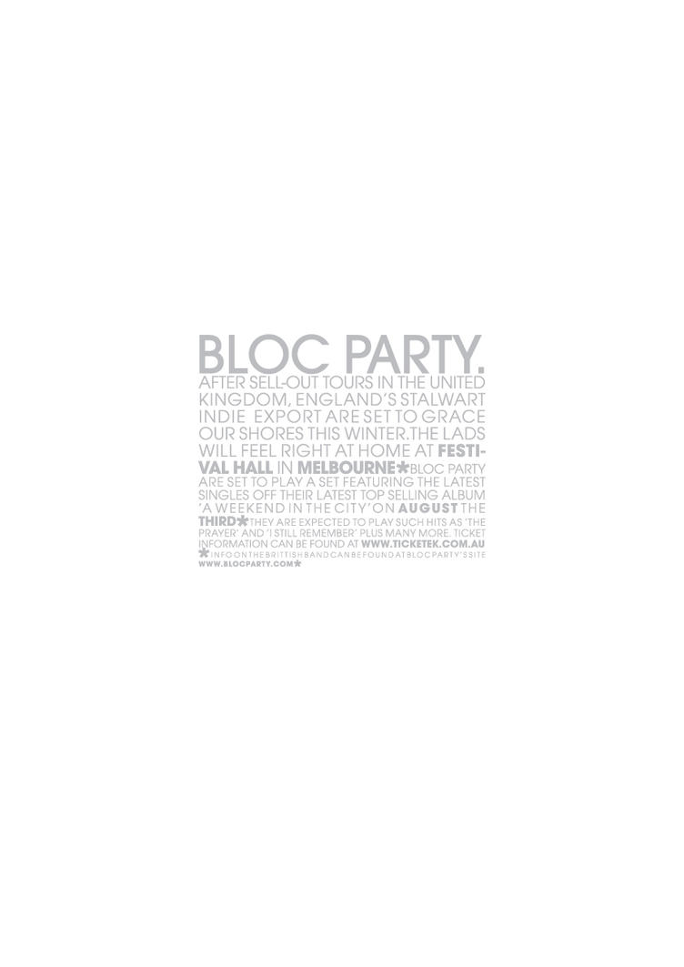 Bloc Party Bill Poster by Furi-ku