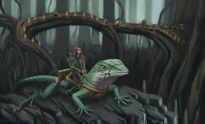 Lizard Rider by the-art-junky