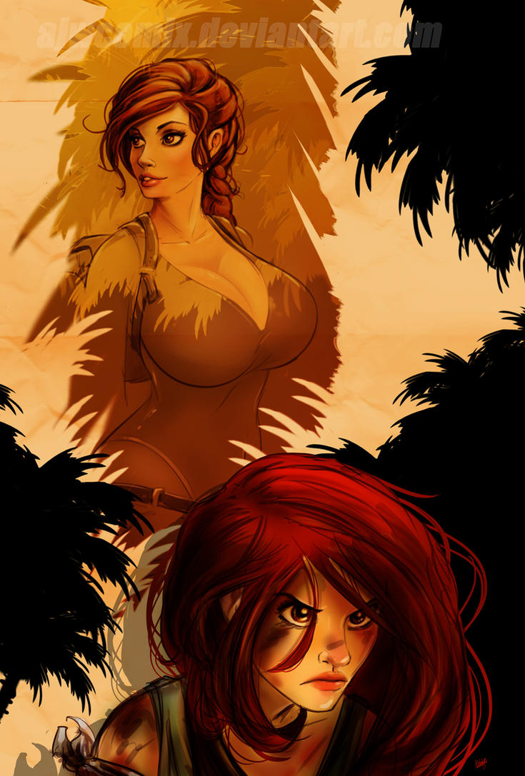 Tomb Raider Past and Present by AJWcomix