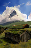 Another Norwegian landscape by Fawflump