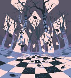 Marble Birch Forest