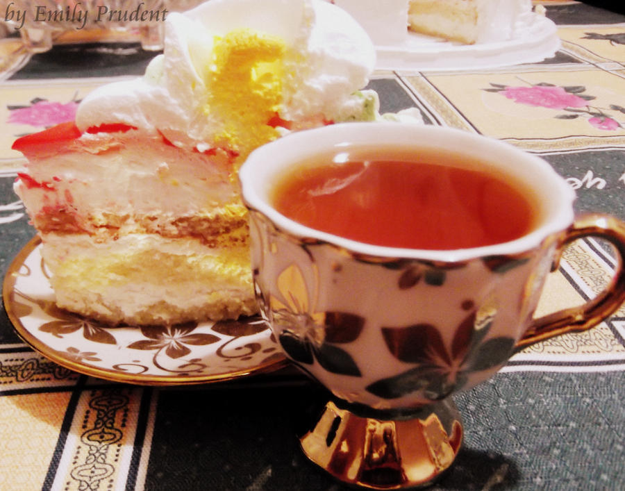 Tea and cake by EmilyPrudent