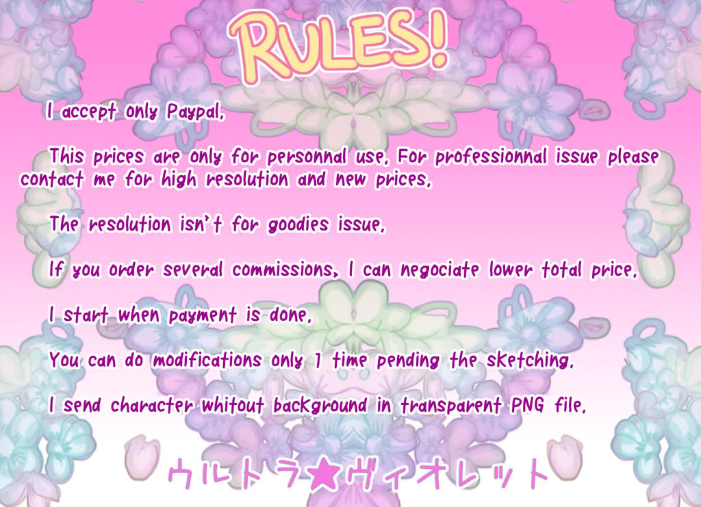 Rules by Ultra-Violette