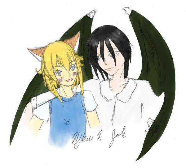 Niku and Jak by fluffnight