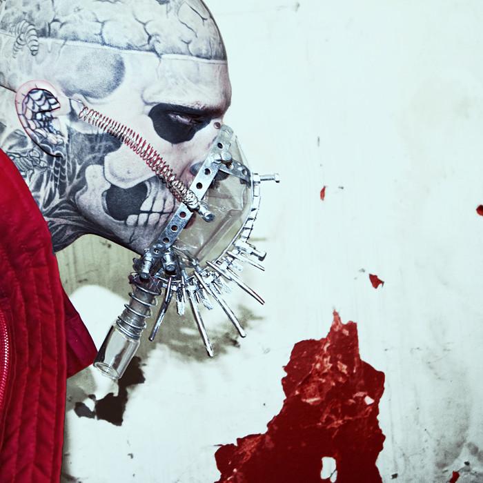 Zombie Boy mask by KasiaKonieczka