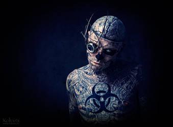 Zombie Boy monokl by KasiaKonieczka