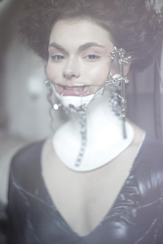 Nekromantic neck corset by KasiaKonieczka
