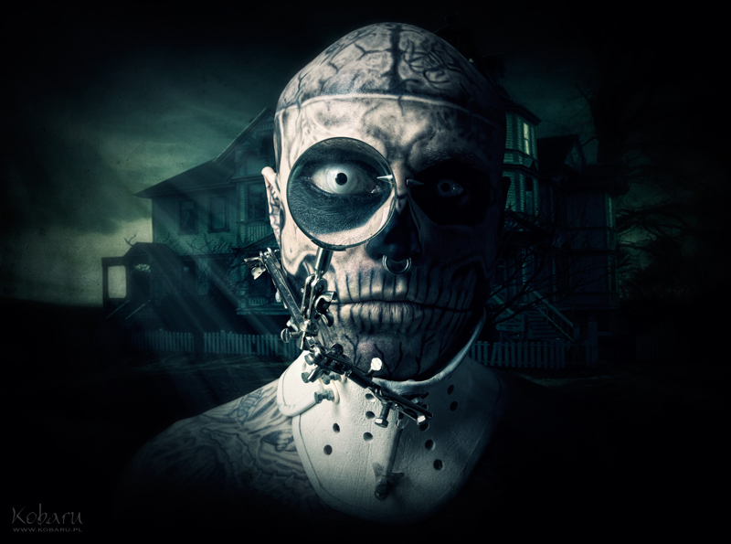 Zombie boy collar by KasiaKonieczka