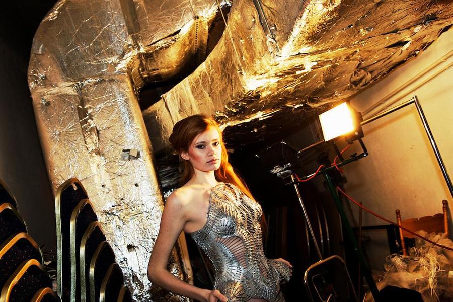 Silver corset by KasiaKonieczka