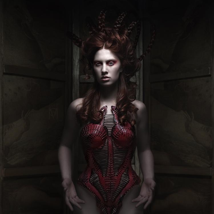 red corset by KasiaKonieczka