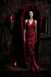 Red dress by KasiaKonieczka
