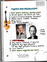 Angela's 2012 resolution.