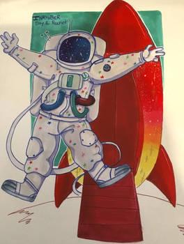Inktober Day 16: Rocket