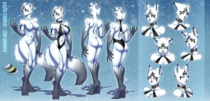 Commission: Diamond Mist Spandex Outfit Ref Sheet