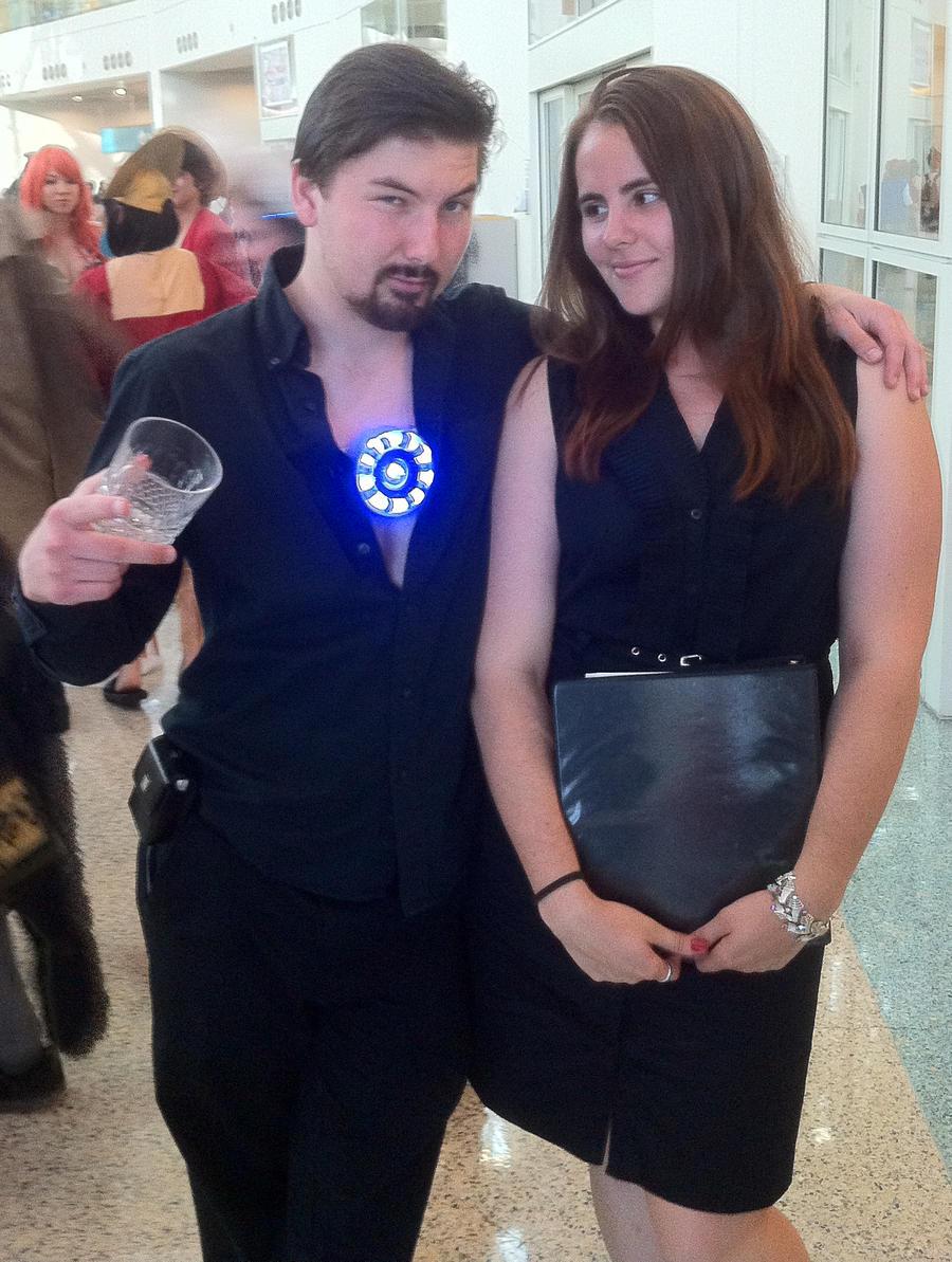 Tony Stark and Pepper Potts - Ironman - AX 2012 by chibireaper