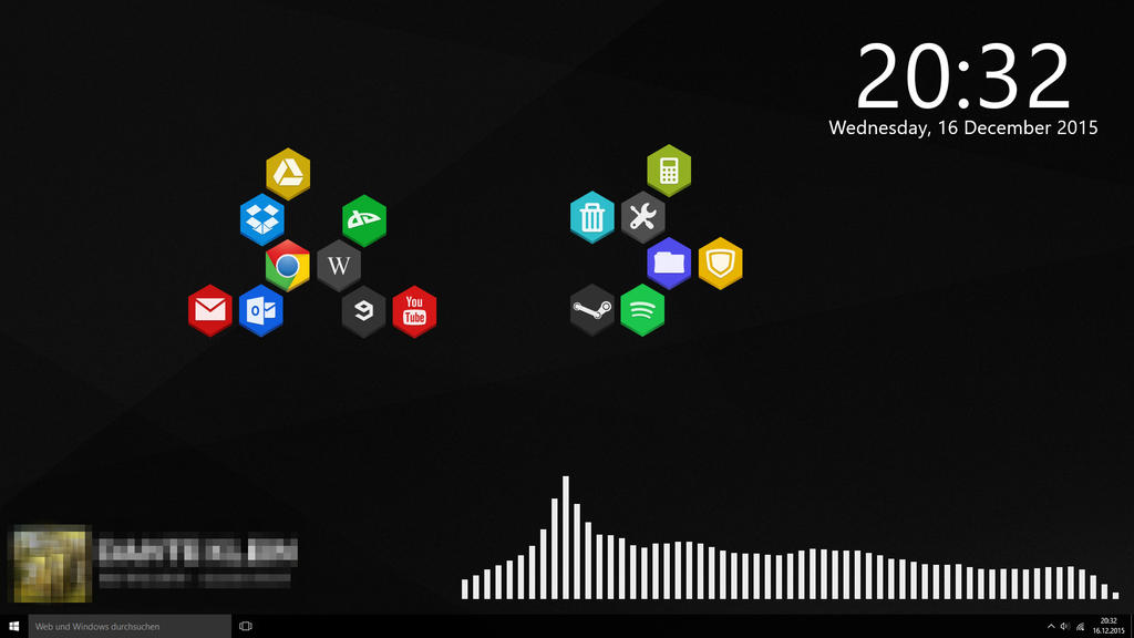 Rainmeter simple desktop by aleythus on deviantart for Deviantart rainmeter
