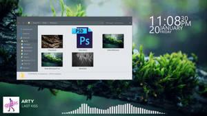 Rainmeter Simple Desktop Design (+Explorer Design)