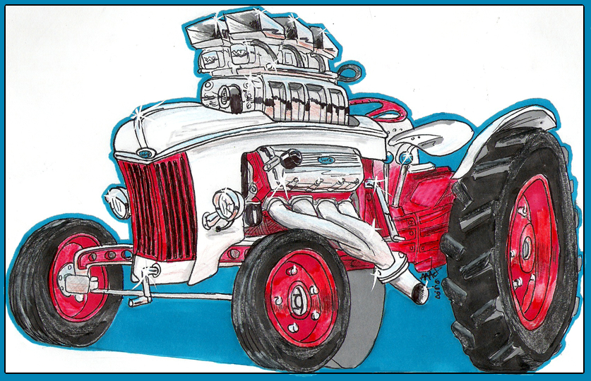 Ford Tractor Cartoon : Ford tractor car toon by aaronsdesk on deviantart