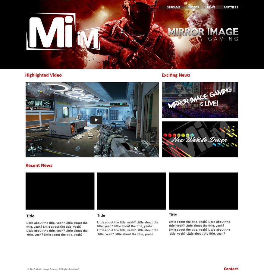 Mirror Image Gaming web design by atomiccc