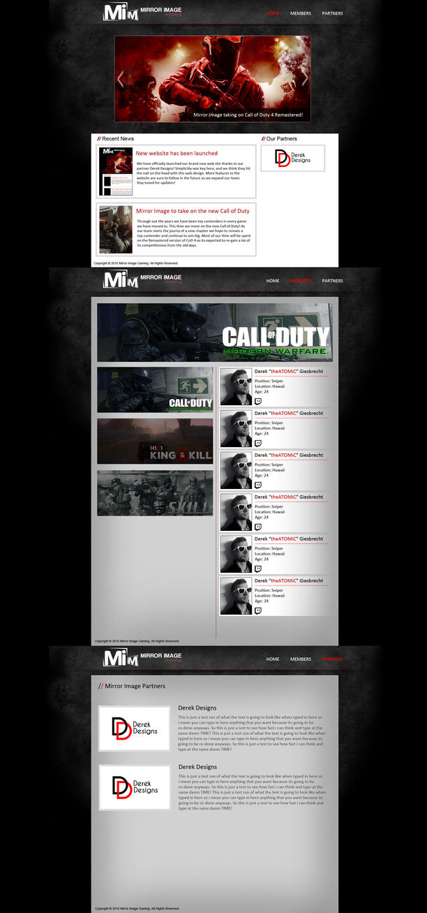 Mirror Image Gaming Website v2 by atomiccc