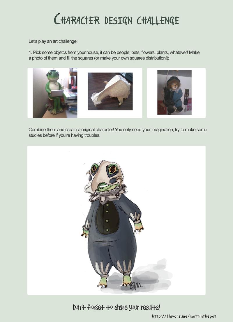 Character Design Challenge Masterchef : Character design challenge frog boy by mottinthepot on