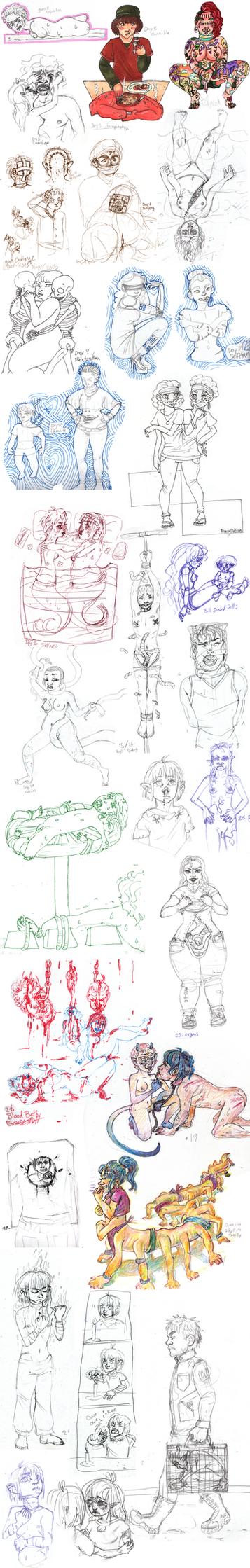 33 day guro challenge sketchdump by MottInThePot