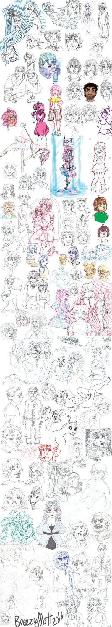 Sketchdump 42 Ocs by MottInThePot