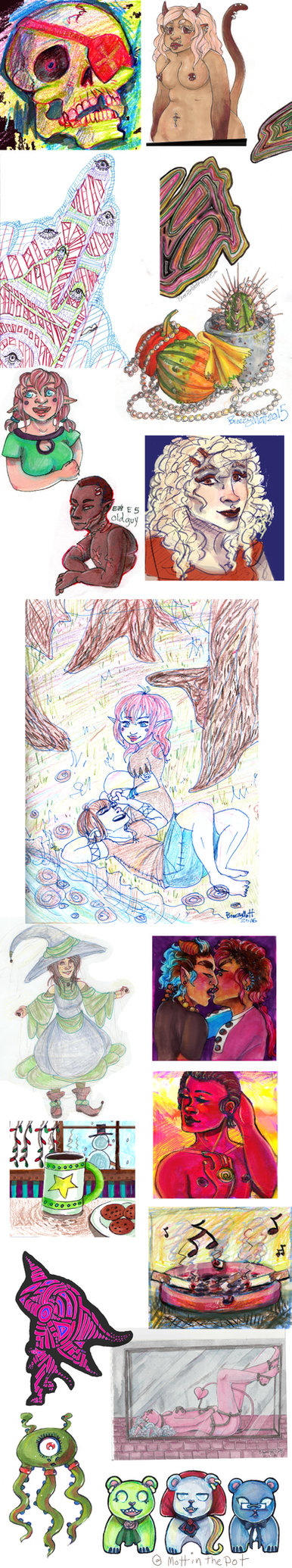 Sketchdump 49 Traditional Colour by MottInThePot