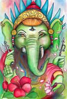 Ganesha, Prince of Wisdom by amberfishy