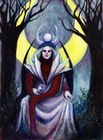The High Priestess by amberfishy