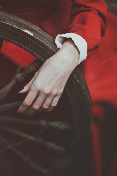 Wheel of fate in tired hands of Autumn by NataliaDrepina