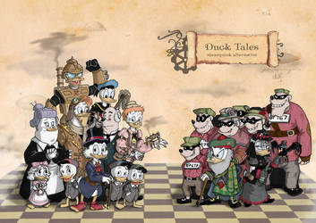 Duck Tails in steampunk by SalmaRU