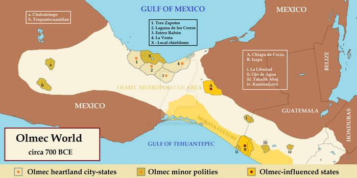 Olmec world (ca. 700 BCE)
