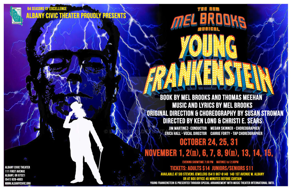 Young Frankenstein Musical Poster - ACT by LKBurke29 on