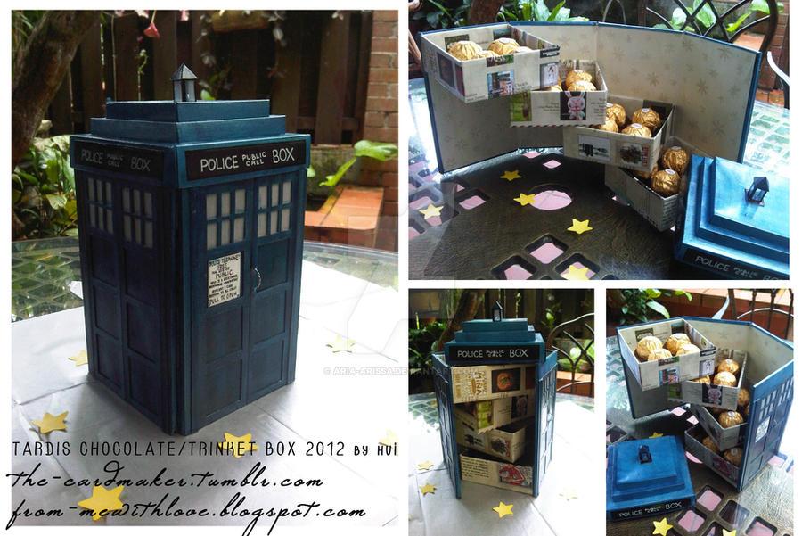 TARDIS Chocolate/Trinket Box by aria-arissa