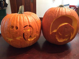 The nightmare before christmas themed pumpkins
