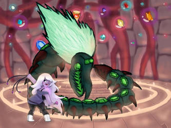 Centipeetle Mother and Amethyst
