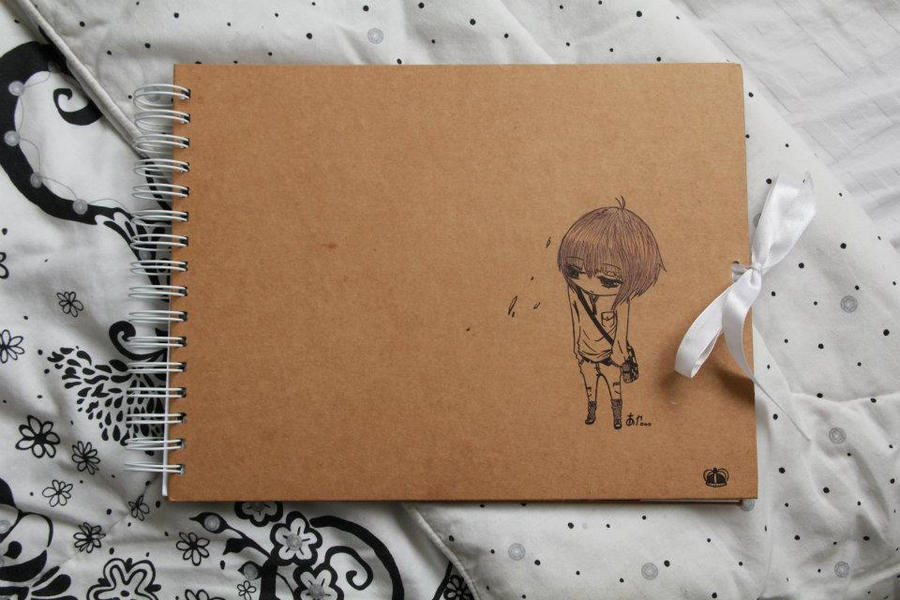 Cute Book Cover Drawing : My sketchbook cover by aiashi touya on deviantart