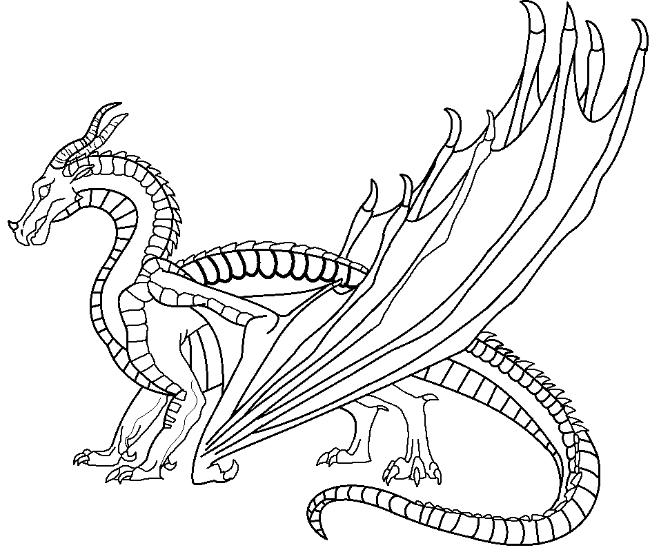 coloring pages of wings - wings of fire skywing base by windymoonstorm on deviantart