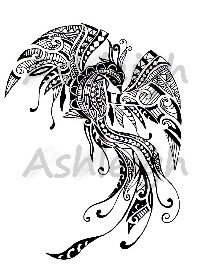 polynesian inspired pheonix by tattoosbyashleigh on deviantart. Black Bedroom Furniture Sets. Home Design Ideas