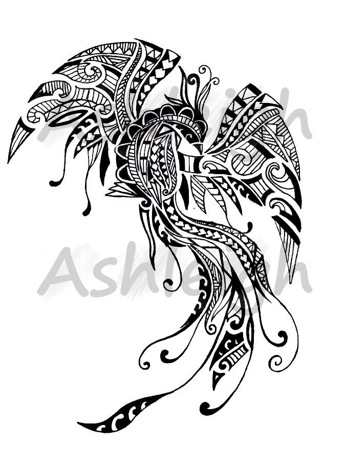 polynesian inspired pheonix by tattoosbyashleigh on deviantart. Black Bedroom Furniture Sets. Home Design Ideas