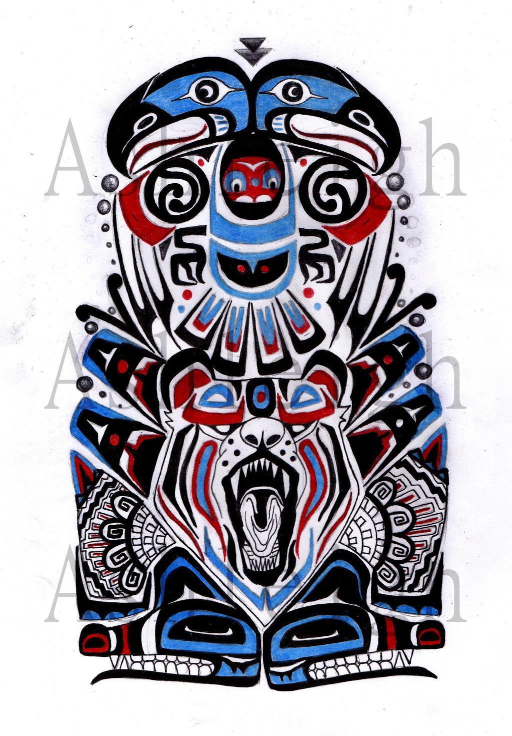 Native american tribal tattoo sleeve for Native design