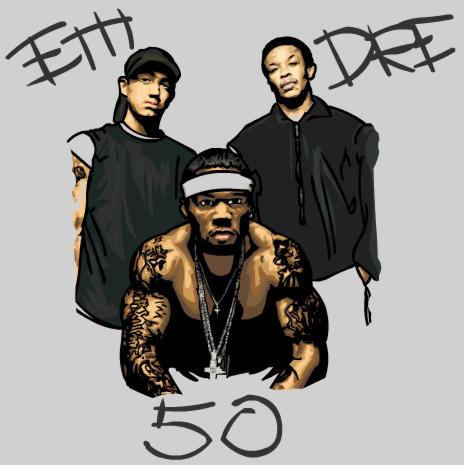 Em, 50, Dre by Thunderbum
