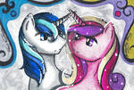 Shining Armor and Princess Cadence Sketch Card Set