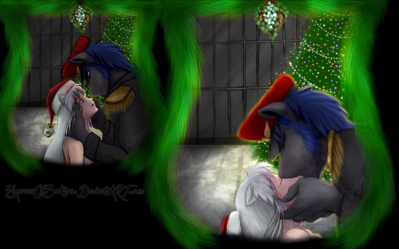 Tumblr reply: Under the mistletoe by EmpressOfSakura