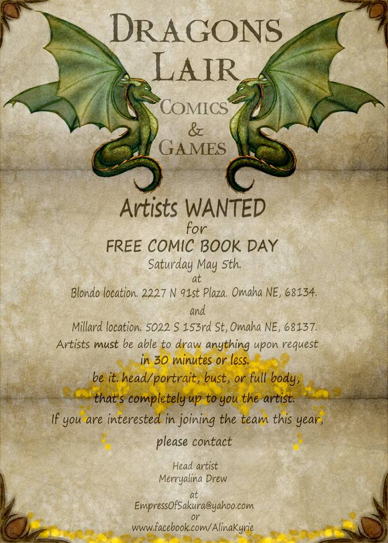 Free Comic Book Day flyer 2018 by EmpressOfSakura