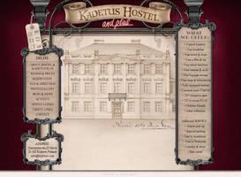 Kadetus Hostel website layout by xaay