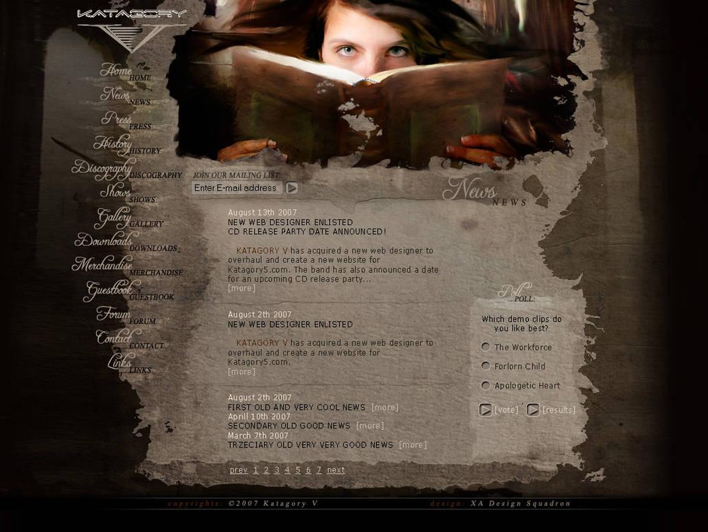 Katagory V website layout by xaay
