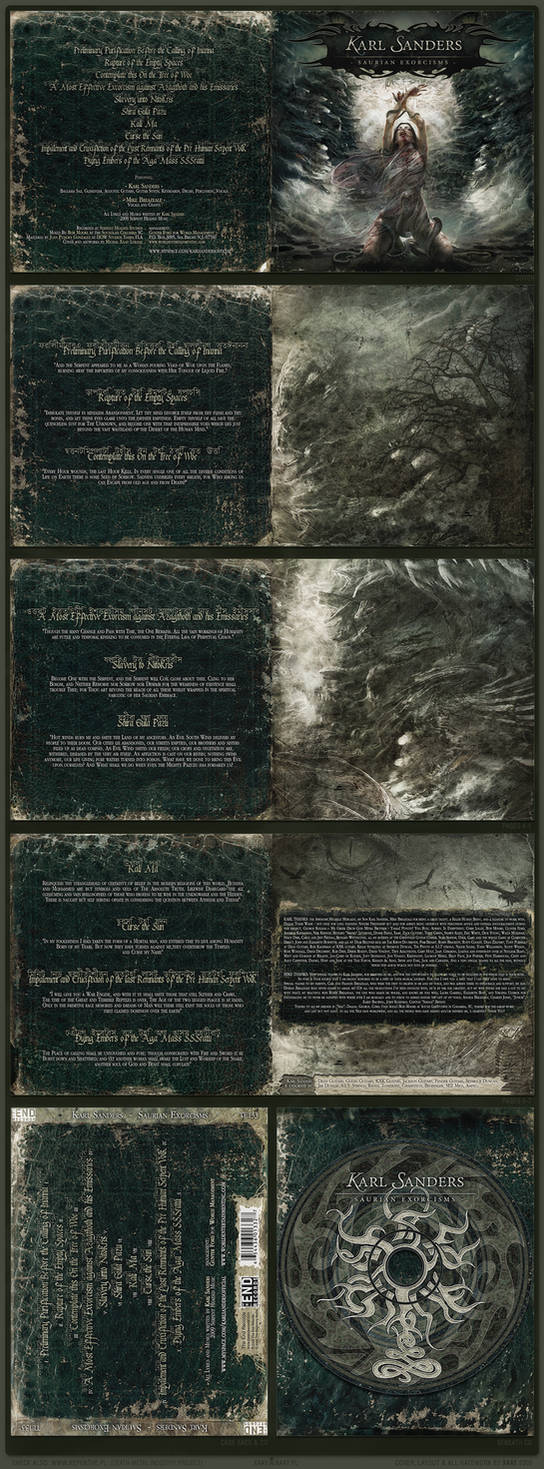Saurian Exorcisms CD artwork